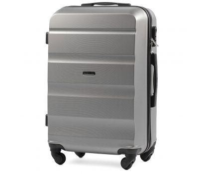 Дорожный чемодан Wings AT01 средний серебряный