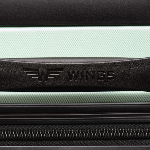 Дорожный чемодан Wings AT01 маленький серебряный