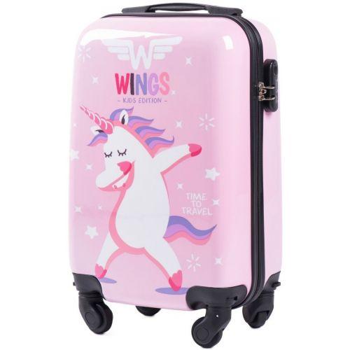 Чемодан детский Wings Jay мини ручная кладь розовый Unicorn