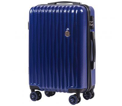 Поликарбонатный чемодан Wings Spotted 5223 маленький синий