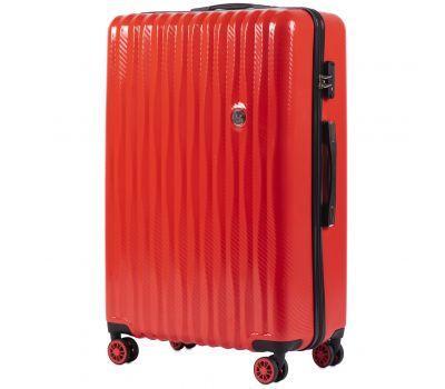 Поликарбонатный чемодан Wings Spotted 5223 большой красный