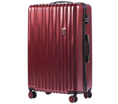 Поликарбонатный чемодан Wings Spotted 5223 большой бордовый