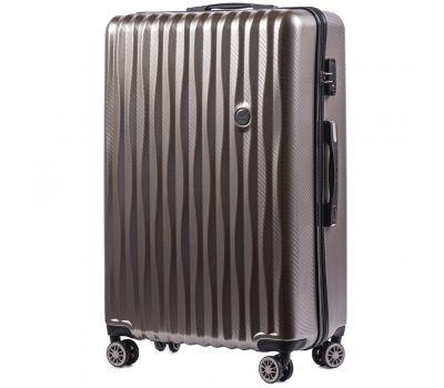 Поликарбонатный чемодан Wings Spotted 5223 большой бронзовый