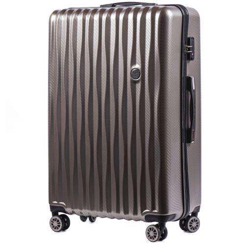 Набор чемоданов из поликарбоната Wings Spotted 5223 3 штуки бронзовый