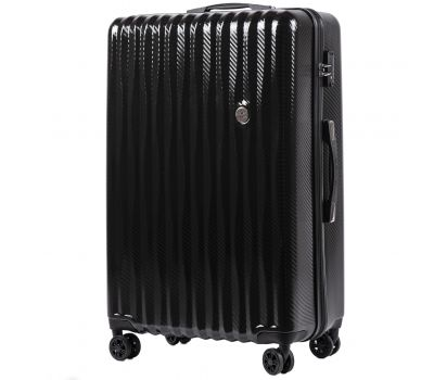 Поликарбонатный чемодан Wings Spotted 5223 большой черный