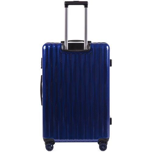 Поликарбонатный чемодан Wings Spotted 5223 большой синий