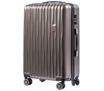 Поликарбонатный чемодан Wings Spotted 5223 средний бронзовый