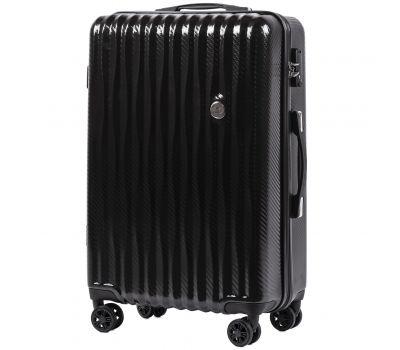 Поликарбонатный чемодан Wings Spotted 5223 средний черный