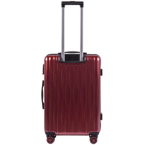 Поликарбонатный чемодан Wings Spotted 5223 средний бордовый