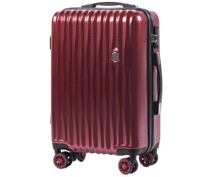 Поликарбонатный чемодан Wings Spotted 5223 маленький бордовый
