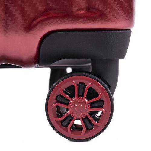 Поликарбонатный чемодан Wings Spotted 5223 маленький красный