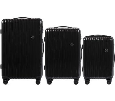 Набор чемоданов из поликарбоната Wings Spotted 5223 3 штуки черный