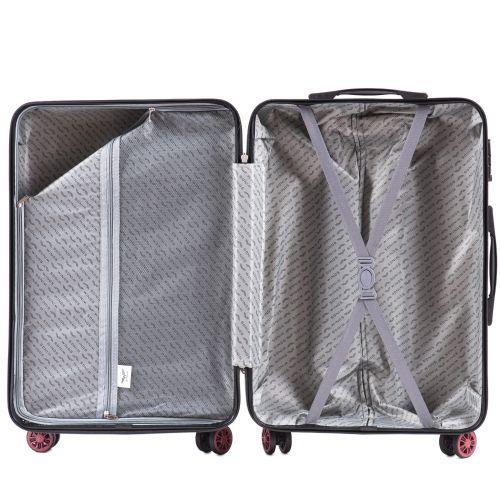 Поликарбонатный чемодан Wings Spotted 5223 большой графит