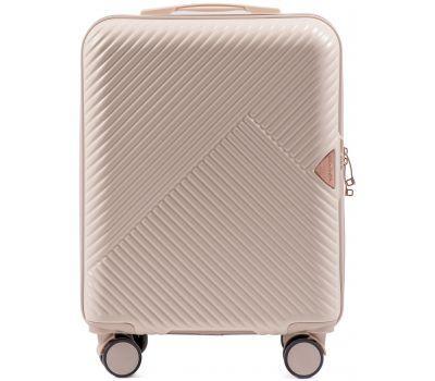 Дорожный чемодан на колесах Wings WN01 маленький S кремовый
