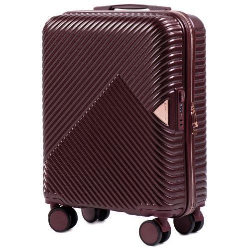 Дорожный чемодан на колесах Wings WN01 маленький S бордовый