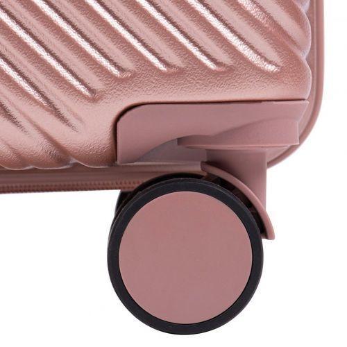 Дорожный чемодан на колесах Wings WN01 маленький S фиолетовый