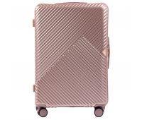 Дорожный чемодан на колесах Wings WN01 большой L розовый