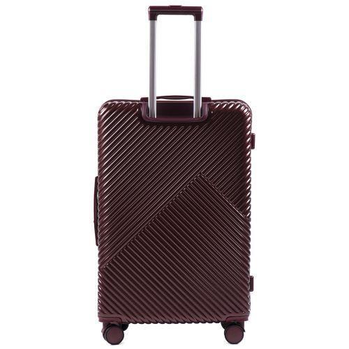 Дорожный чемодан на колесах Wings WN01 большой L бордовый