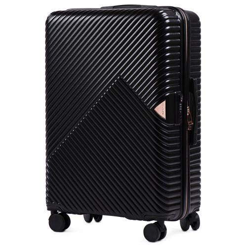 Дорожный чемодан на колесах Wings WN01 большой L черный