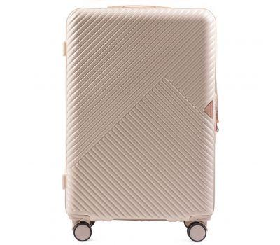 Дорожный чемодан на колесах Wings WN01 средний M кремовый