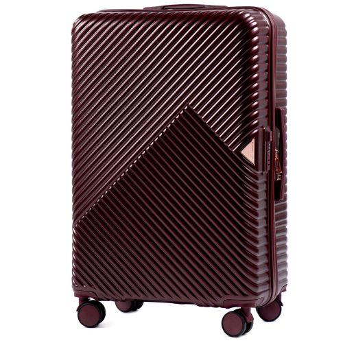 Дорожный чемодан на колесах Wings WN01 средний M бордовый