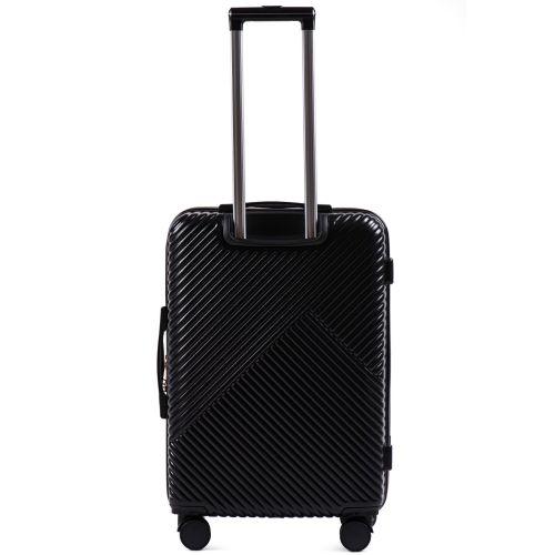 Дорожный чемодан на колесах Wings WN01 средний M черный
