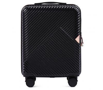Дорожный чемодан на колесах Wings WN01 маленький S черный