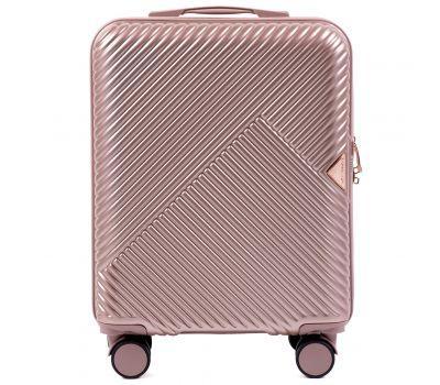 Дорожный чемодан на колесах Wings WN01 маленький S розовый