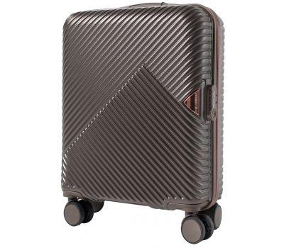 Дорожный чемодан на колесах Wings WN01 маленький S коричневый
