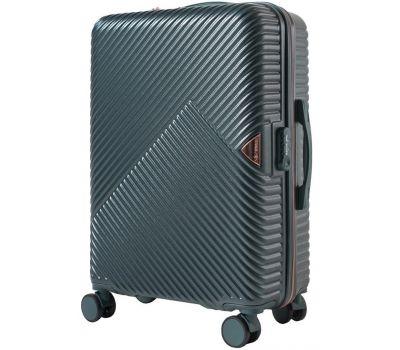 Дорожный чемодан на колесах Wings WN01 средний M зеленый