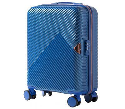 Дорожный чемодан на колесах Wings WN01 маленький S синий