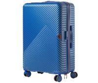 Дорожный чемодан на колесах Wings WN01 большой L синий