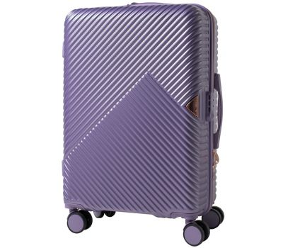 Дорожный чемодан на колесах Wings WN01 средний M фиолетовый
