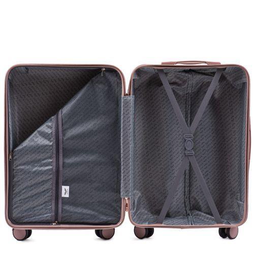 Дорожный чемодан на колесах Wings WN01 большой L коричневый