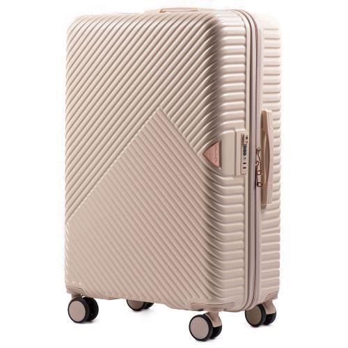 Дорожный чемодан на колесах Wings WN01 большой L кремовый