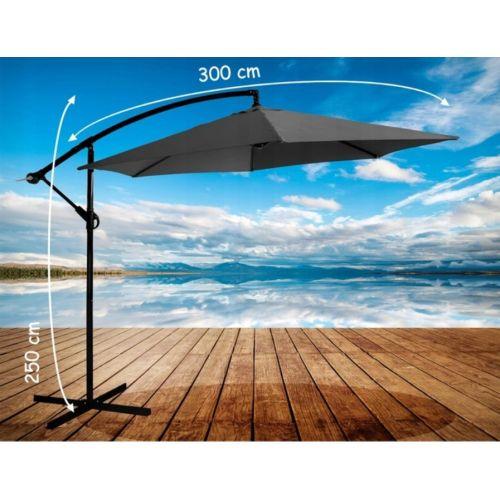 Зонт садовый угловой с наклоном Avko Grey 3 метра