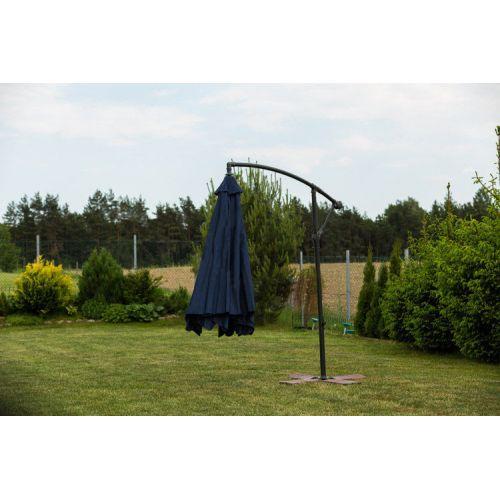 Зонт садовый угловой с наклоном Furnide темно-синий 300 см