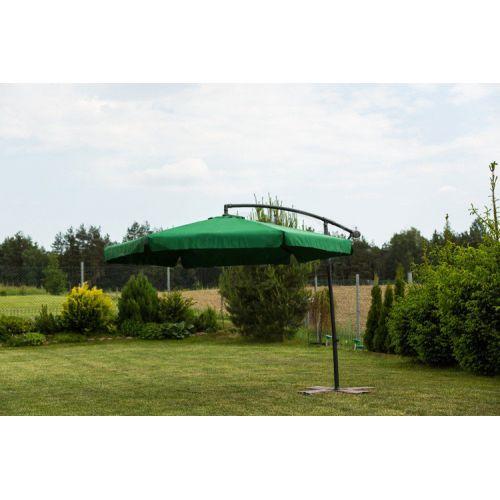 Зонт садовый угловой с наклоном Furnide зеленый 300 см