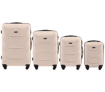Набор дорожных чемоданов Wings Peacock 147 4 штуки ванильный
