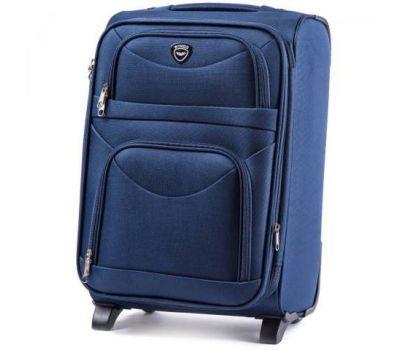 Тканевый чемодан Wings 6802 средний на 2-х колесах синий