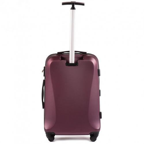 Пластиковый чемодан на колесах Wings Predator 518 средний бордовый