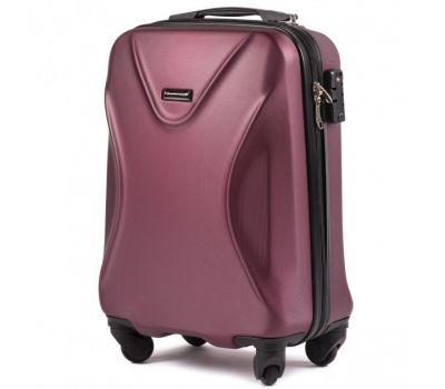 Пластиковый чемодан на колесах Wings Predator 518 маленький бордовый