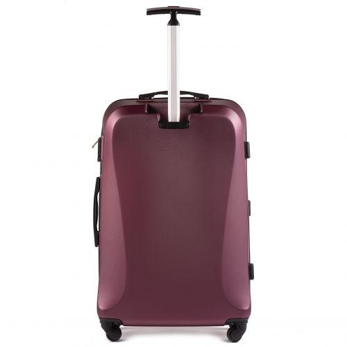 Пластиковый чемодан на колесах Wings Predator 518 большой бордовый