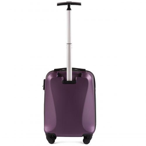 Пластиковый чемодан на колесах Wings Predator 518 маленький фиолетовый