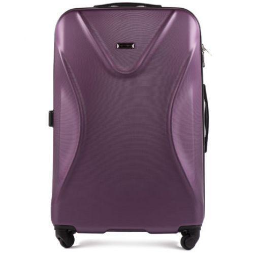 Пластиковый чемодан на колесах Wings Predator 518 большой фиолетовый
