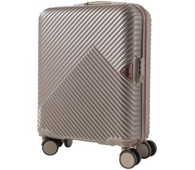 Дорожный чемодан на колесах Wings WN01 маленький S шампань