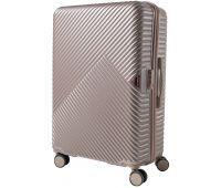 Дорожный чемодан на колесах Wings WN01 средний M шампань